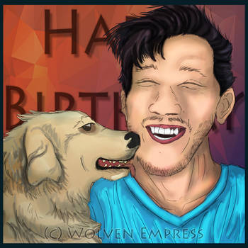 Markiplier and Chica: Happy Birthday, Mark by Wolven-Empress