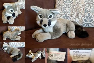 Gray Kit Fox by K M International, Inc by AhrendalePlush