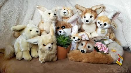 Fennec Foxes by AhrendalePlush