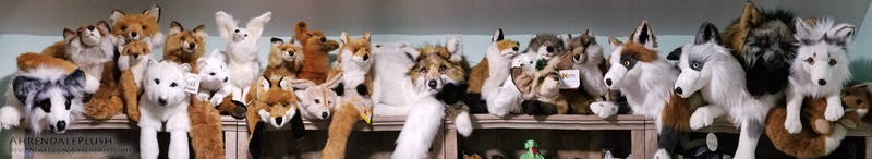 Fox Plush Shelf by AhrendalePlush