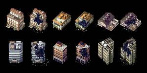 Pixel Buildings (Part 2) by AlbertoV