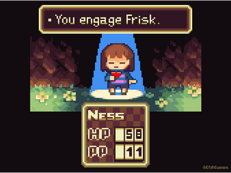 You Engage Frisk by AlbertoV