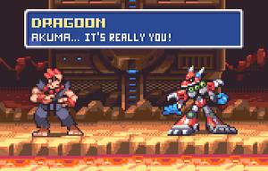 Akuma vs Dragoon by AlbertoV