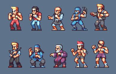 Street Fighter (1987) by AlbertoV