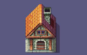 Pixel Art - RPG House by AlbertoV