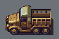 Pixel Art - Truck by AlbertoV