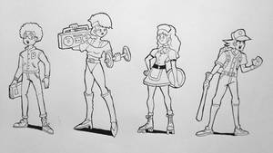 Characters design - part 1 by AlbertoV