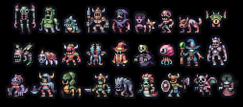 Set of monsters by AlbertoV