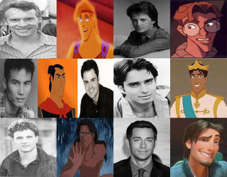 Disney Leading Male Voices in Movies Part 3 by dramamasks22