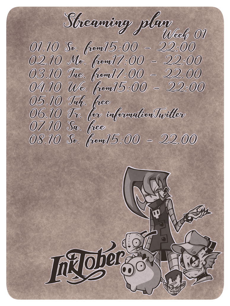 Zeitplan inktober by The-Only-Korro