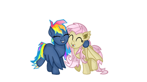 MLP- Evil Pie Hater RD And FlutterBat. by YayCelestia0331