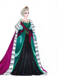 Elsa Outfits: Coronation Dress (Historic Redesign) by LadyoftheGeneral