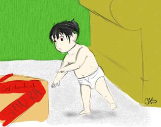 Baby Vincent Valentine by caskuro