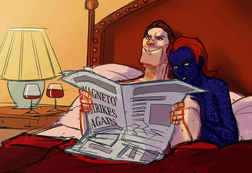 Magneto and Mystique by MultiverseCafe
