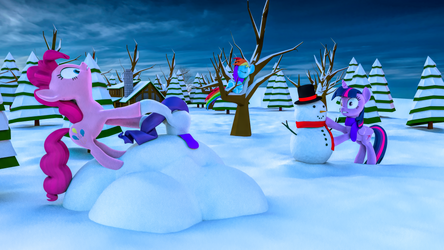 [B3D] [MLP] Fun With Snow by MarcelExE