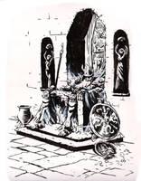 Inktober 29: The king by wallsofwoe