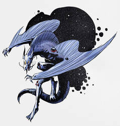 Space Lizard by wallsofwoe