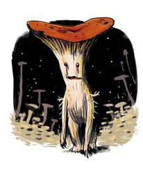 Sad Little Mushroom Man by wallsofwoe