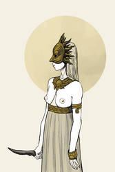 Sun Mask by wallsofwoe