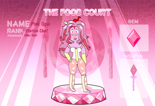 The Food Court Application~Pink Opal by NightRainExplorer