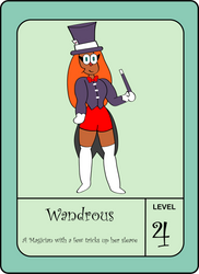 OK K.O. OC-Wandrous-Pow Card by NightRainExplorer