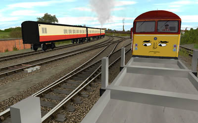 The woes of a freight engine by Edelroark