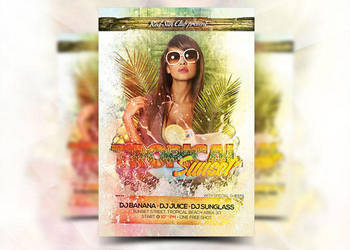 Tropical Sunset Flyer by Flyermarket
