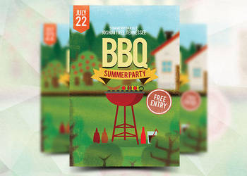 BBQ Summer Party Flyer by Flyermarket