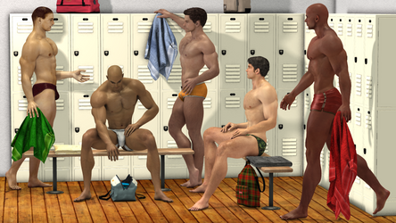 Mens Locker Room by KevIzz