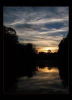 sunset above river by jeni-cek