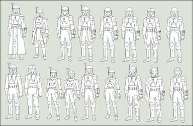 Star Wars - Mandalorian outline templates by Arbiter376