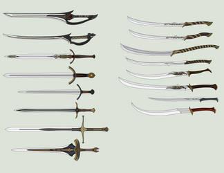 Sword drawings (2018 - 2019) by Arbiter376