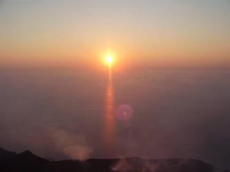 Sunset Over Stromboli by clojio