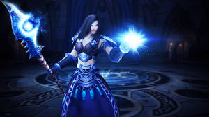 Lunatara Wallpaper - World of Warcraft by ginnypinnyart