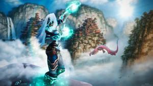 Wildjade Wallpaper - World of Warcraft by ginnypinnyart