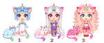 UniCat Adopts w/ Humanoid Form [CLOSED] by mouldyCat