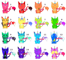 [RAFFLE | CLOSED] Uni(Hell)Cats Rainbow Sheet by mouldyCat