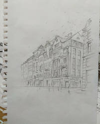 Old town in Torun live sketch by RealEz-Art