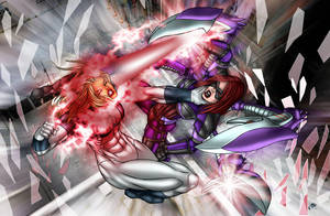 Kim Paler vs Ultrawoman by FireBrandi