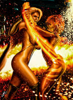 Against the Dark by FireBrandi