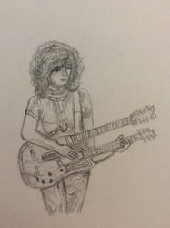 Quick sketch of jimmy page by ClassicROCKtrash