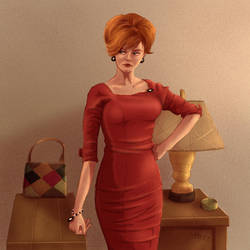 Joan from Mad Men by mrudowski
