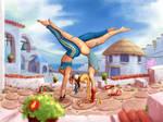 Street Fighter girls morning training by mrudowski