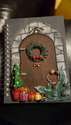 Christmas fairy door journal by creativitieskey