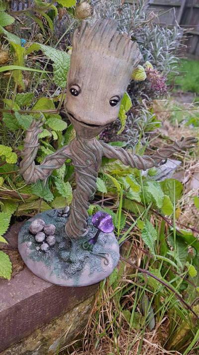 groot fan art sculpture  by creativitieskey