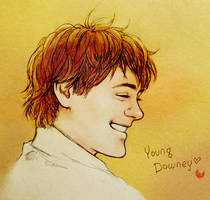 Young Downey by Hallpen