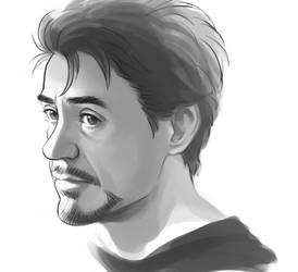 Tony doodle by Hallpen