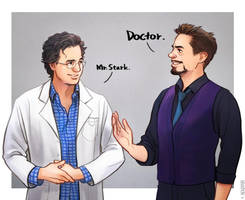 Dr.Banner Mr.Stark by Hallpen