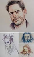 colored pencil doodles by Hallpen