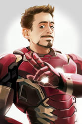 MCU Iron man/Tony Stark by Hallpen
